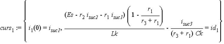 curs[1] := {i[1](0) = i[suc1], (Es-r[2]*i[suc2]-r[1]*i[suc1])*(1-r[1]/(r[3]+r[1]))/Lk-i[suc3]/((r[3]+r[1])*Ck) = id[1]}