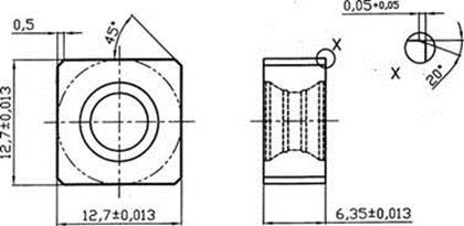 Твердосплавная пластина 21-001328-100-1 российского производства