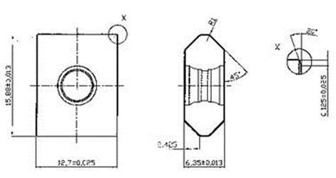 Твердосплавная пластина 21-004692-100-1 российского производства