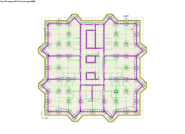 Схема этажа 1в комплексе «