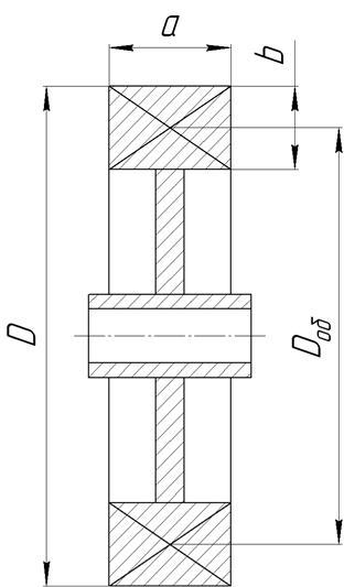 схема колеса