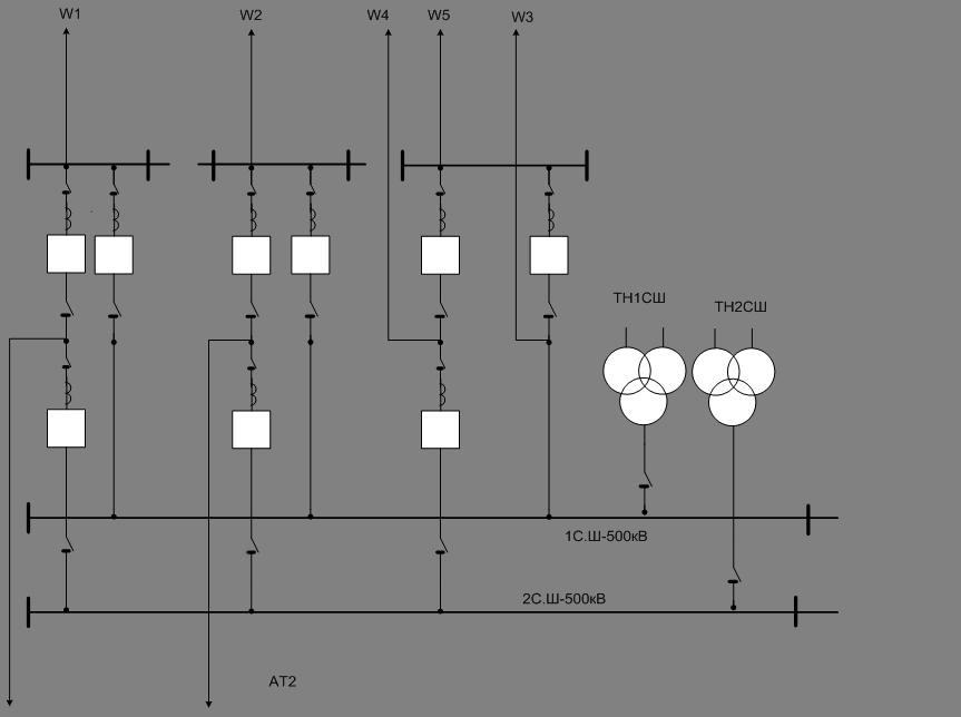 Выбор схемы ОРУ-500 кВ.
