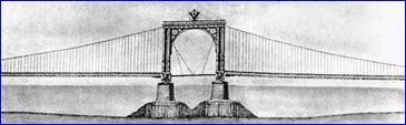 Проект моста ч-з Неву Дефонтена (1841)