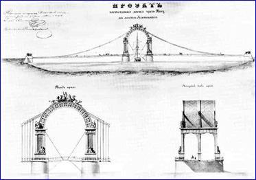 Проект моста ч-з Неву С