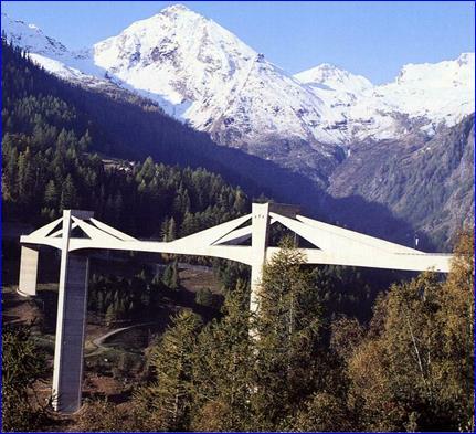 Жб вантовый мост (Швейцария, 1980 г)