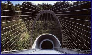 Арочный пилон моста (Япония, 1996) (120 м) -2