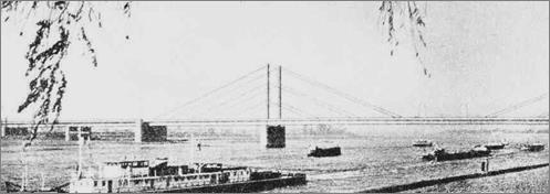 Мост ч-з Рейн в Дюссельдорфе (108+260+108) (1958)