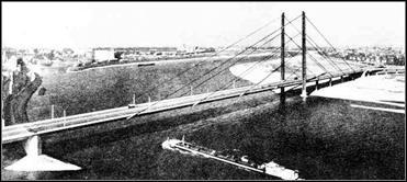 Мост Кни-брюкке ч-з Рейн в Дюссельдорфе (1969)