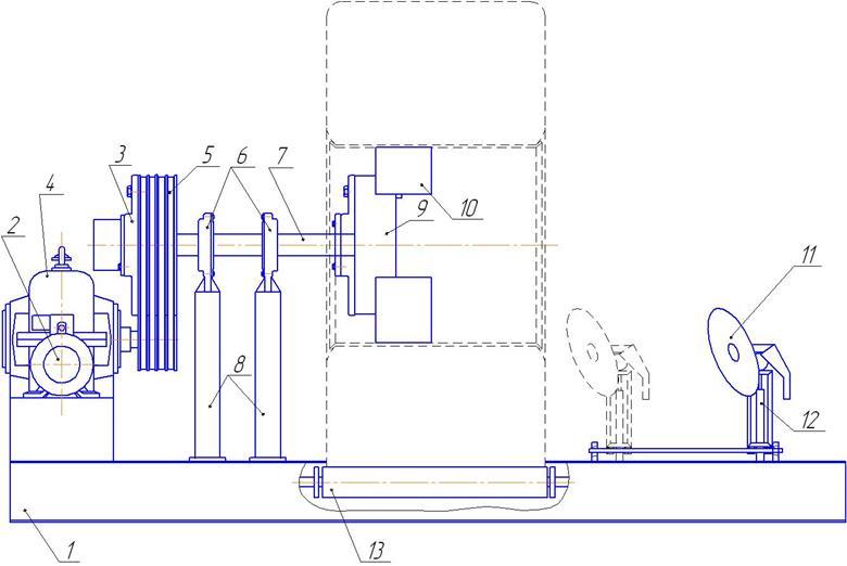 Разработка стенда для шиномонтажа большеразмерных колес  Рисунок 4 1 Стенд для шиномонтажа большегрузных шин
