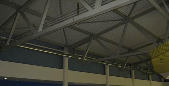 Отчет по объектной практике знакомство с производственной  Металлические фермы покрытия опираются на металлические колоны верхним поясом по которому идет профилированный настил Колонны прокатные