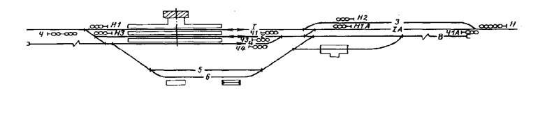Схема промежуточной станции