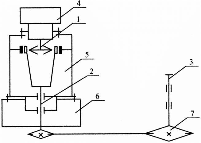 Схема привода дана на рисунке