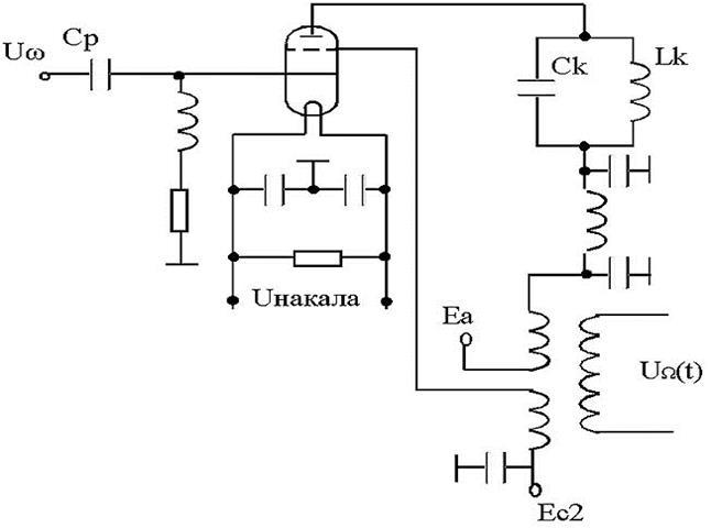 Схема генераторной лампы с