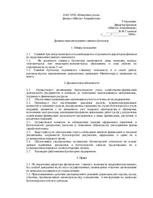 Д Инструкция Главного Бухгалтера - фото 6