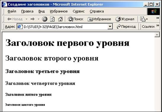 Современное информационное пространство. Создание Web-документа с помощью языка HTML. Основные теги документа HTML, страница 3