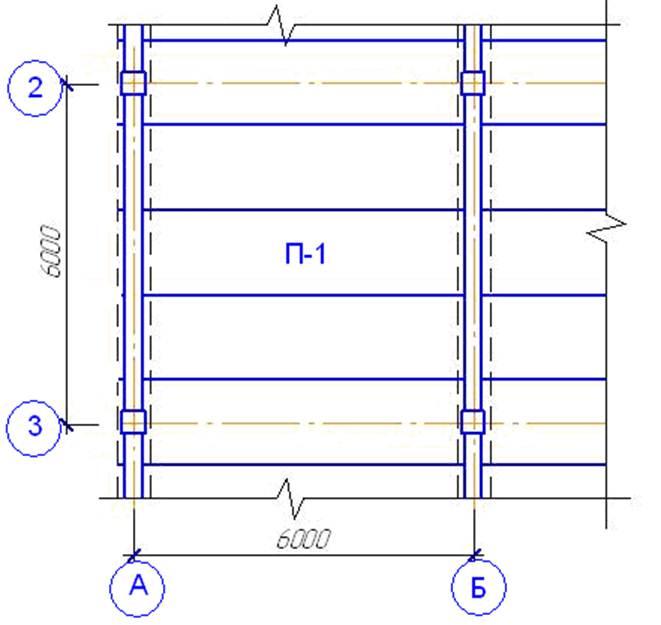 Расчетная схема плиты перекрытия 941
