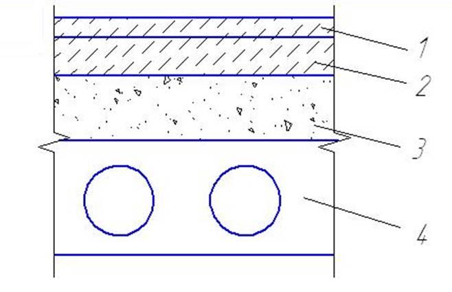 Расчетная схема плиты перекрытия 46