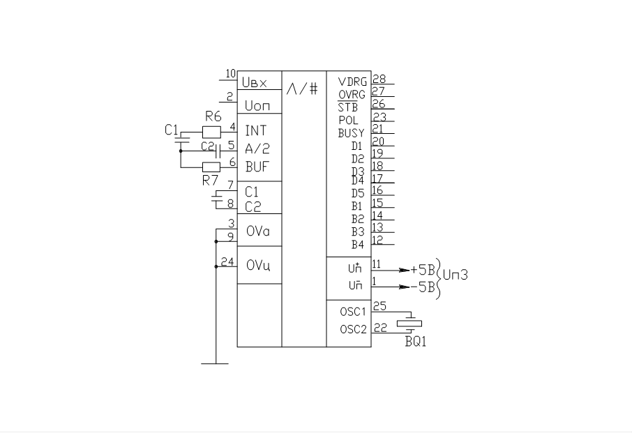 Схема включения icl7135