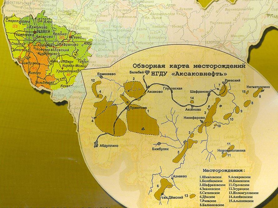 Общая характеристика и организационная структура ООО НГДУ  Рисунок 2 Обзорная карта месторождений