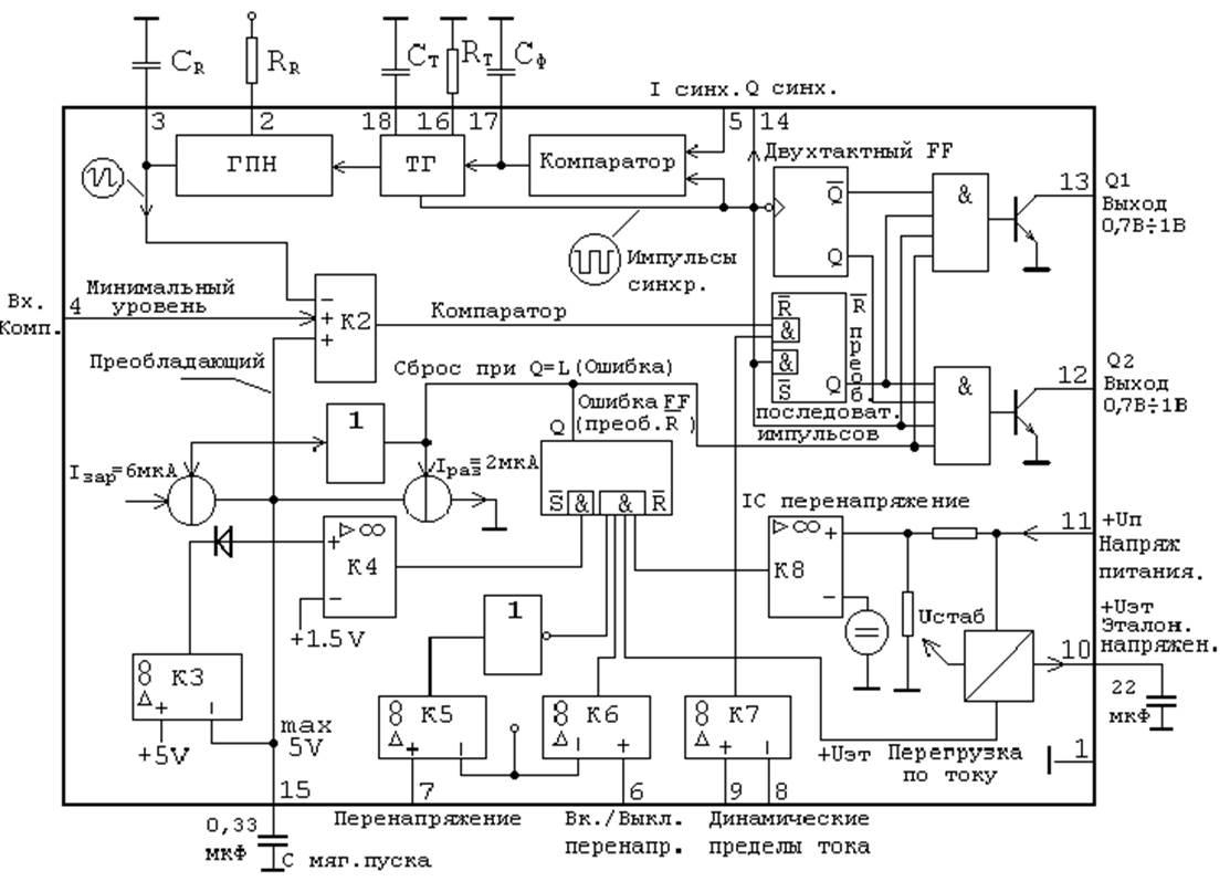 генератор прямоугольных импульсов на 4046 схема