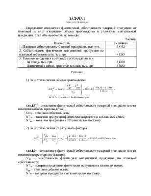 Решение задач на анализ себестоимости продукции мелирование и  Решение задач на анализ себестоимости продукции мелирование и комплексную оценку