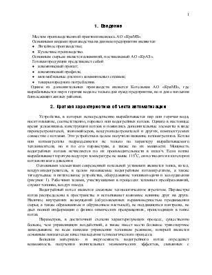Отчет по производственной практике в котельной АО КраМЗ