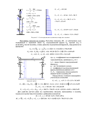 статический расчёт поперечной рамы