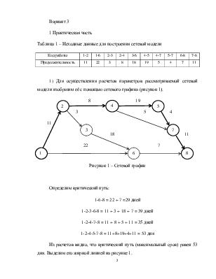Работа в сетевой модели определение условия работы модели