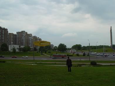 Строительство четырехэтажного здания торгового центра в г Минск  Выбранный участок под строительство торгового центра в г Минске ограничен с северной стороны существующим 2 этажным зданием КБО с западной стороны