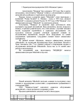 Отчет по практике на предприятии ООО Медведь Сервис