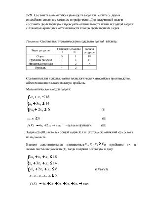 Решение задач по составлению математической модели математика решение задачи 1 класс