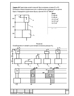 Решение задач на построение эпюр продольной силы какие экзамены нужны чтобы поступить