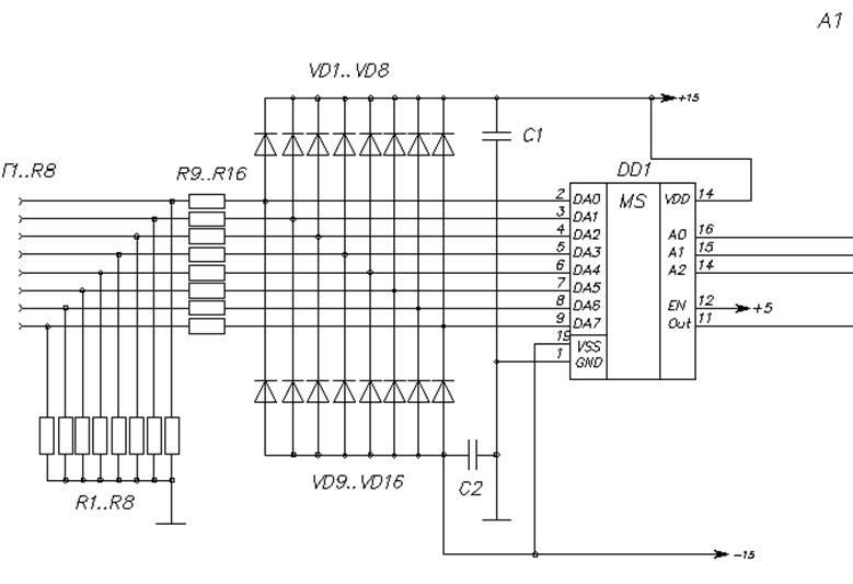 Разработка принципиальной схемы многоканального осциллографа В данном дипломном проекте блоки предварительной выборки канала измерения реализованы на мультиплексорах ad7501 рис 4 1