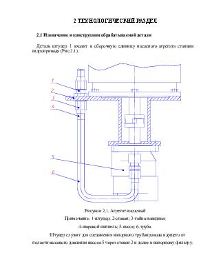 Разработка технологического процесса механической обработки детали  Разработка технологического процесса механической обработки детали Штуцер Технологический раздел дипломного проекта