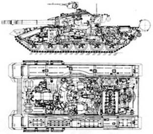 Компоновка танка Т-90
