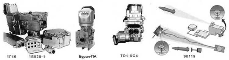 Комплекс управления огнем 1А45-Т состоит из дневного прицела наводчика 1Г46, ночного комплекса наводчика ТО1-КО1 с прицелом «Буран-ПА», прицельно-наблюдательного комплекса командира ПНК-4С, зенитного прицела ПЗУ-7, системы управления зенитной установкой 1ЭЦ29, баллистического вычислителя 1В528-1 с датчиками входной информации, стабилизатора вооружения 2Е42-4 и других устройств.