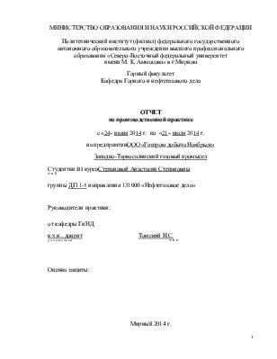 Отчет по производственной практике газ 2416