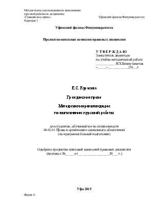 Требования к курсовой работе Этапы выполнения курсовой работы